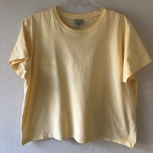 L.L. Bean Yellow Saturday T-Shirt Crewneck